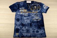 Мъжка тениска в макси размери - MONACO - тъмно синя до 5 XL