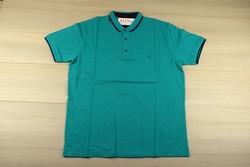 Мъжка тениска с яка - MADU - цвят мента до 6XL