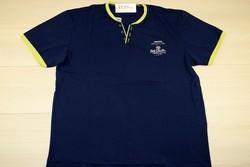 Мъжка тениска -REDDOWN- синя със зелен кант до 5 XL