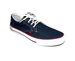 Дънкови мъжки обувки - 2711 - тъмно сини с връзки