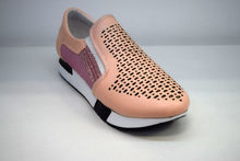 Дамски маратонки на платформа - 8014 - розови