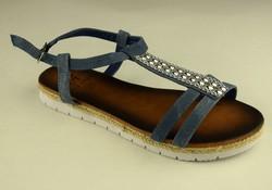 Дамски дънкови сандали - А 2844 - тъмно сини