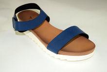 Дамски ниски сандали - А 2842 - сини