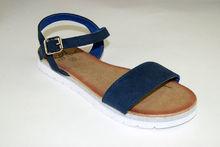 Дамски ниски сандали - А 2841 - тъмно сини