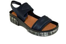 Дамски сандали на лека платформа - А 2834 - тъмно сини