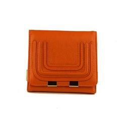 Малко дамско портмоне ЕСТЕСТВЕНА КОЖА - А 1122-1324 - оранжево