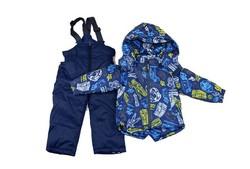 Детски зимен комплект за момчета от 1 до 5 г. - тъмно син
