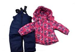 Детски зимен комплект за момичета от 1 до 5 г. - розов