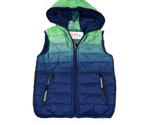 Топла зимна грейка за момчета от 8 до 16г. - синьо/зелена