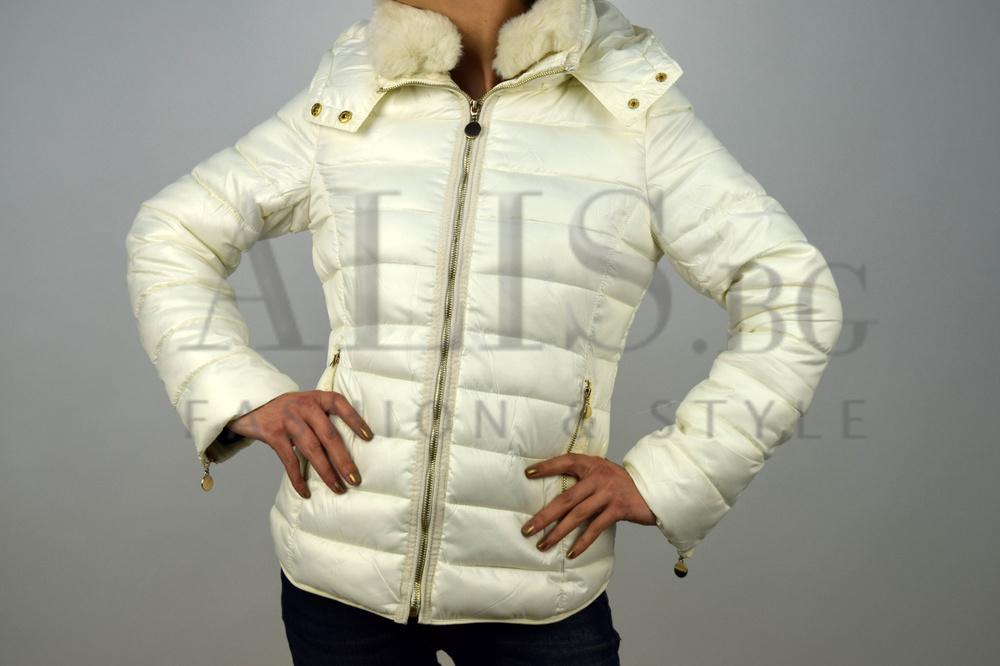6eecc977023 Дамско зимно яке в бяло ЛУКС СПОРТ - Alis.bg - Fashion & Style