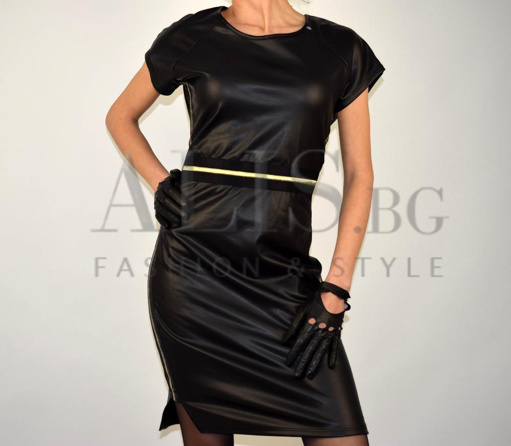 b8dafb8f15a Дамска клубна рокля ЕКО КОЖА - Alis.bg - Fashion & Style