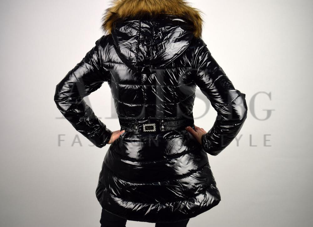 287766b97b7 Актуален модел дамско зимно яке-черно - Alis.bg - Fashion & Style