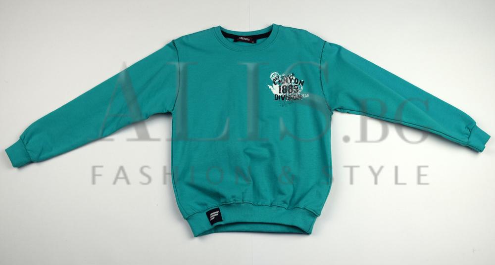 2833b4e587f Детска блуза с дълъг ръкав за момче - FREEBTS - синьо - зелена за 6 и