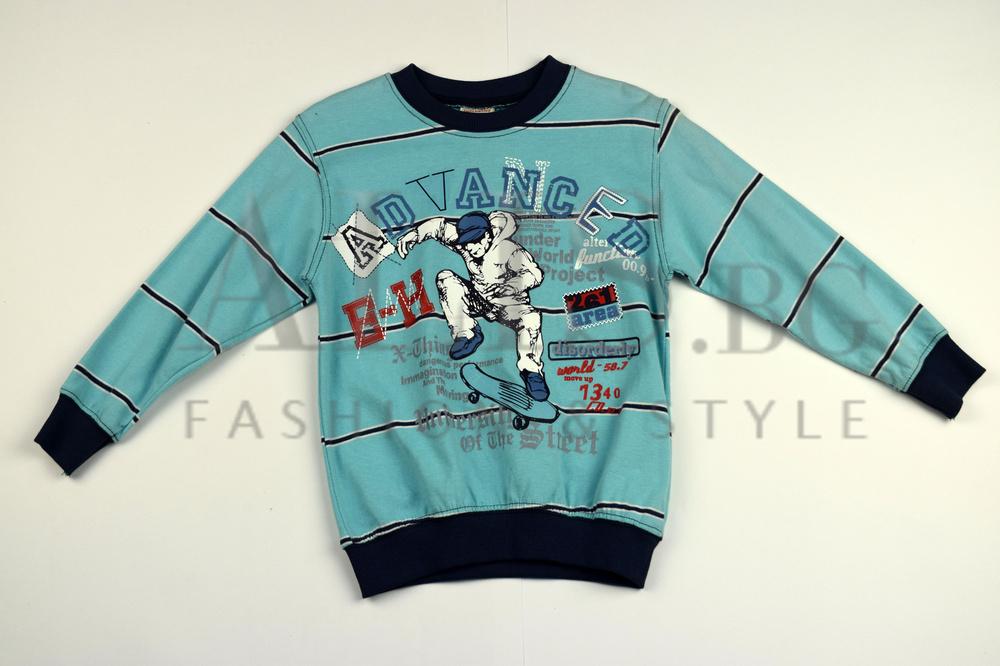 251b4c45999 Детска блуза с дълъг ръкав за момче - ADVANCED - светло синя за 4 год