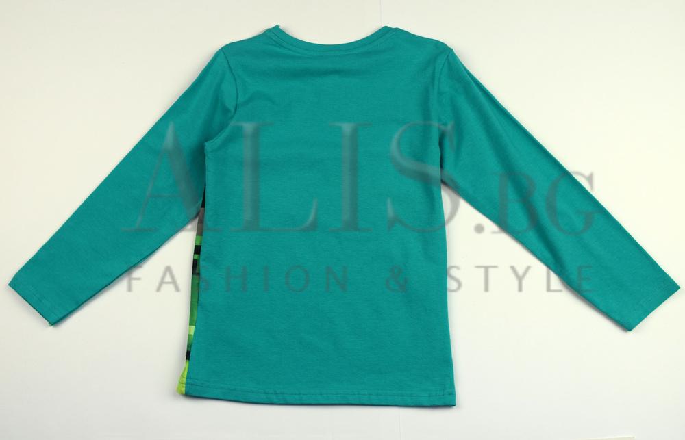 820598c44e8 Детска блуза с дълъг ръкав за момче - MINECRAFT - зелена за 4 годишни