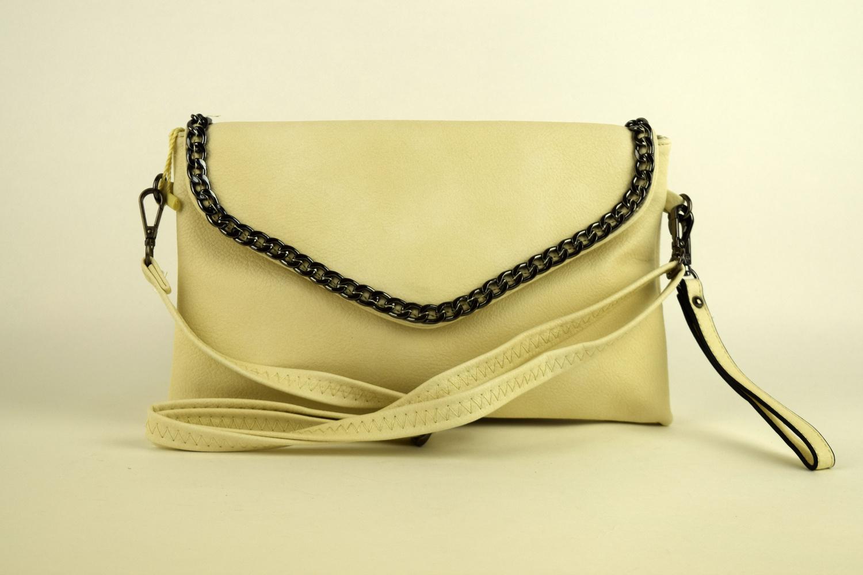 7af88a50a88 Официална дамска чанта - светло бежова - Alis.bg - Fashion & Style