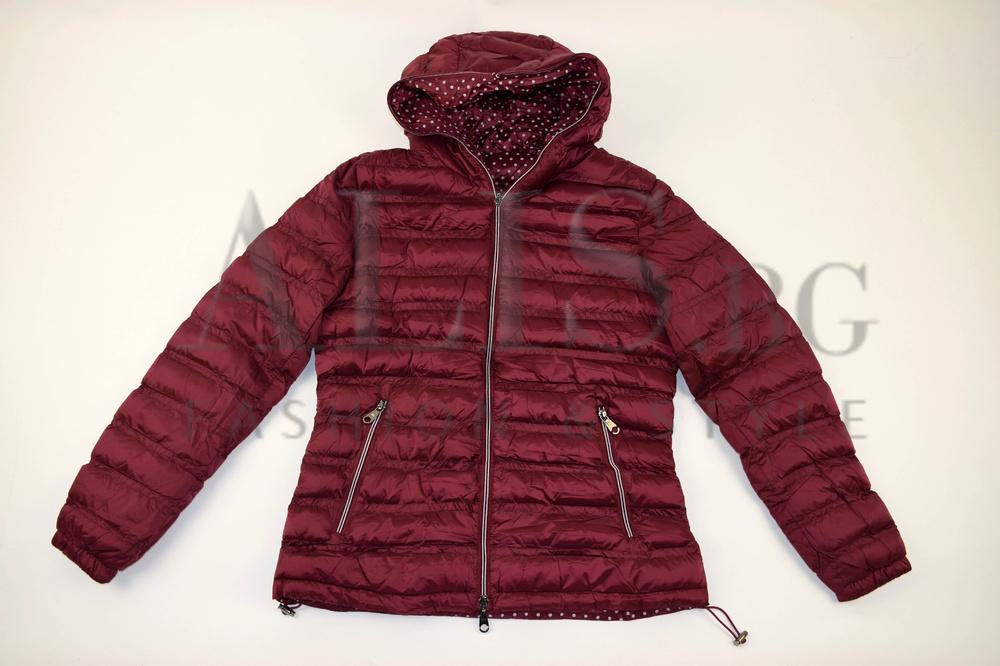 1999ed4d048 Дамско яке с две лица големи размери- цвят бордо - Alis.bg - Fashion