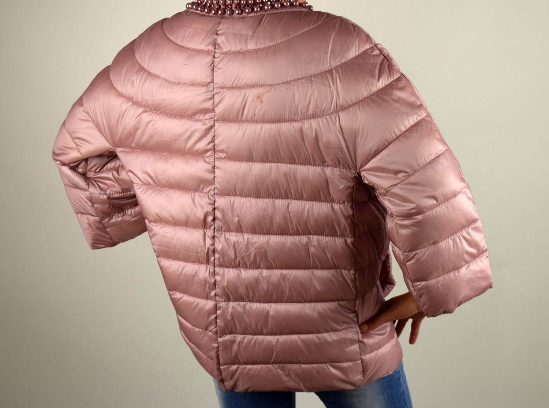 431acc1f233 Дамско пролетно есенно яке - 1501 - розово големи размери - Alis.bg -