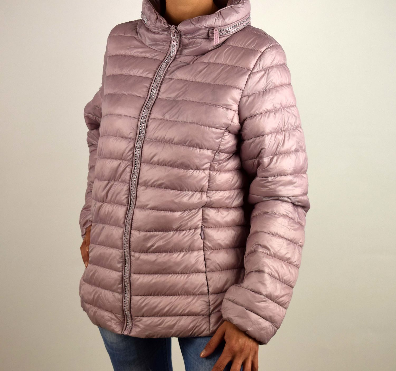 258ef2141c2 Дамско пролетно - есенно яке - 1506 - розово големи размери - Alis.bg