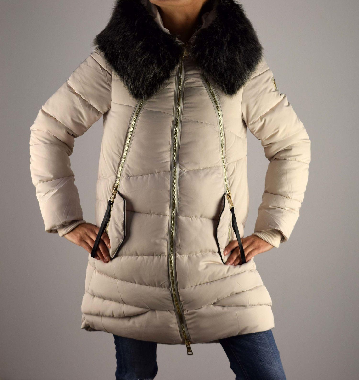 5fba77c7969 Дамско зимно яке - 1607 - екрю - Alis.bg - Fashion & Style