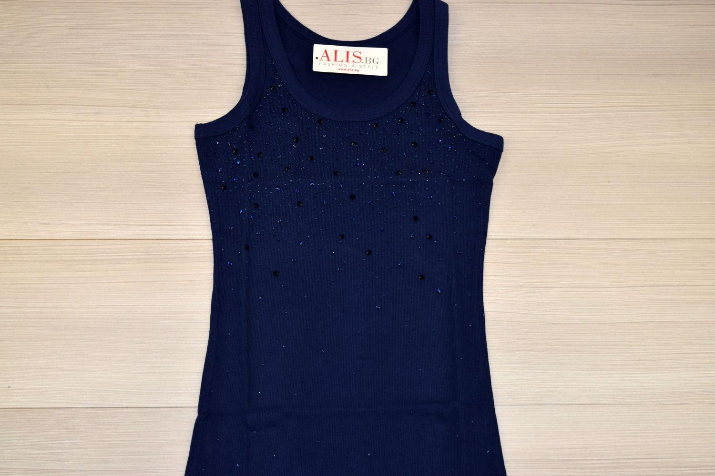 55495f0ac89 Дамски елегантен потник - 6001 - тъмно син - Alis.bg - Fashion & Styl