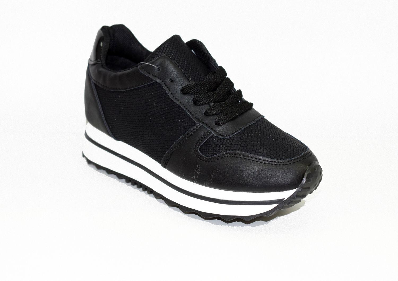 4236c1c0717 Дамски маратонки скрита платформа - 8008 - черни - Alis.bg - Fashion