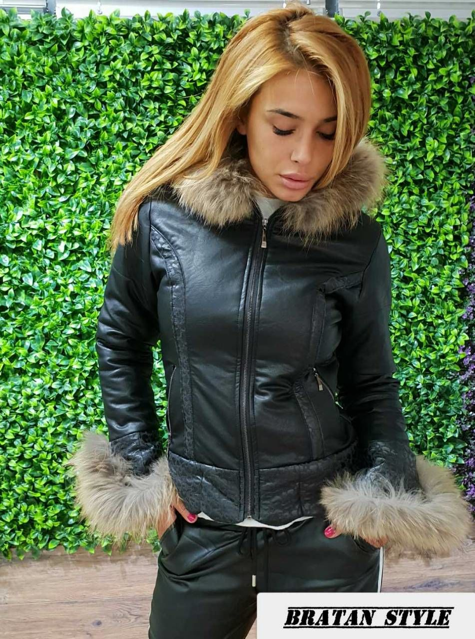 1c5606495a8 Дамско зимно яке с естествен пух -код 3115 - Alis.bg - Fashion & Styl