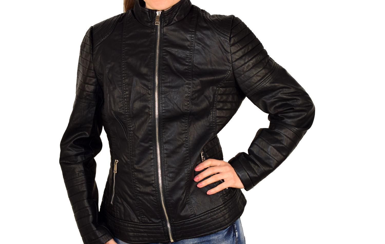 be690884c79 Дамско кожено яке в макси размери - 1527 - черно - Alis.bg - Fashion