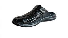 Мъжки чехли в черно и кафяво