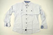 Мъжка стилна риза в бяло до 4ХЛ