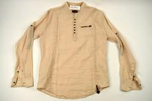 Мъжка ленена риза МОДЕЛ  в бежово