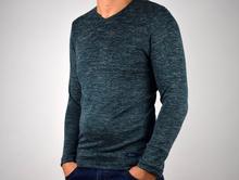 Мъжка блуза в синьо-зелен цвят
