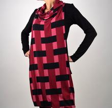 Дамска рокля/туника в бордо