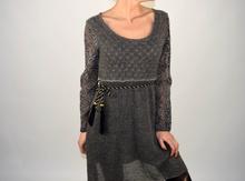 Дамска рокля от фино плетиво