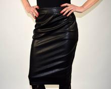 Дамска кожена пола