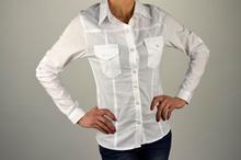 Дамска спортно-елегантна риза в бяло