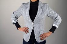 Дамско модно ленено сако