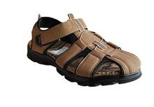 Комфортни мъжки сандали - бежови