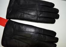 Мъжки ръкавици ЕСТЕСТВЕНА КОЖА - черни