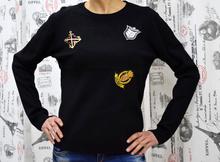 Дамска блуза с дълъг ръкав-SYDNEY- черна