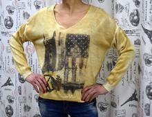 Дамска блуза с дълъг ръкав - DANY - злато