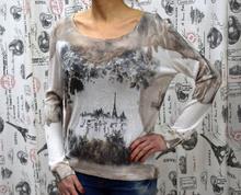 Дамска блуза с дълъг ръкав -ALEXANDRA- бяла