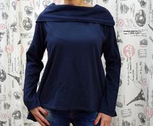 Дамска блуза с дълъг ръкав - MARIA - тъмно синя