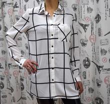 Дамска риза с дълъг ръкав - ZOE - бяла
