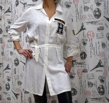 Дамска риза с дълъг ръкав - BREANNA - бяла