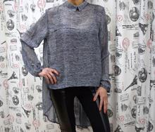 Дамска риза с дълъг ръкав - EMMA- сива