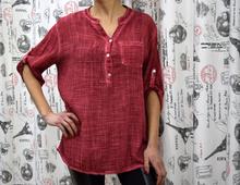 Дамска риза с дълъг ръкав -MADISON- червена