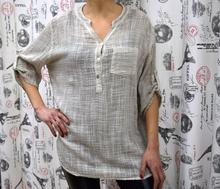 Дамска риза с дълъг ръкав - MADISON- бяла