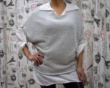 Дамска риза с дълъг ръкав - ARIANNA- сива