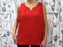 Дамски eлегантен потник - LILA- червен